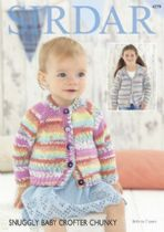 Sirdar Snuggly Baby Crofter Chunky - 4779 Cardigans Knitting Pattern